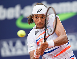 28.07.2014, Sportpark, Kitzbuehel, AUT, ATP World Tour, bet at home Cup 2014, Hauptrunde, Einzel, im Bild Joao Souza (BRA) // Joao Souza of Brazil in action during men's singles at the main round of bet at home Cup 2014 tennis tournament of the ATP World Tour at the Sportpark in Kitzbuehel, Austria on 2014/07/28. EXPA Pictures © 2014, PhotoCredit: EXPA/ Johann Groder