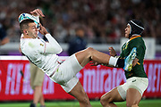 Jonny Mayof England retrieves the ball during the Rugby World Cup  final match between England and South Africa at the International Stadium ,  Saturday, Nov. 2, 2019, in Yokohama, Japan. South Africa defeated England 32-12. (Florencia Tan Jun/ESPA-Image of Sport)