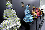 HONG KONG - MARCH 13: Sculptures 'Parallel - Meditation Password' by Yang Tao are on display in art fair Art Central on its first day on March 13, 2015 in Hong Kong, Hong Kong.  (Photo by Lucas Schifres/Getty Images)