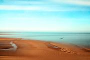 Tidal flats seen from Cap de Carteret / Normandy / France