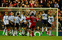 Fotball<br /> Premier League England 2004/2005<br /> Foto: BPI/Digitalsport<br /> NORWAY ONLY<br /> <br /> Middlesbrough v Manchester City<br /> Barcalys Premiership. 06/12/2004.<br /> <br /> Jimmy Floyd Hasselbaink fires Boro in to a 3-1 lead from a free-kick.