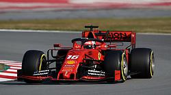 Ferrari's Charles LeClerc during day four of pre-season testing at the Circuit de Barcelona-Catalunya.