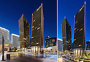 Architecture Photography: Helmut Jahn's Veer Towers Luxury Condos, Las Vegas, Nevada, USA