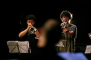 """Members of the JACC workshop orchestra during rehearsal. """"Jazz ao Centro"""" jazz festival is held twice a year in portuguese town of Coimbra."""
