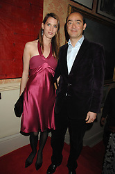 KATHARINA TARABA and FREDERIC HUFKENS at the engagement party of Vanessa Neumann and William Cash held at 16 Westbourne Terrace, London W2 on 15th April 2008.<br />