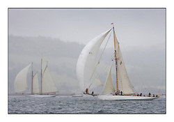 Moonbeam III 1903 Gaff Cutter and Altair 1931 Schooner. ..Sunday race from Largs to Rhu started damp but briefly lifted for a downwind race to the upper Clyde...* The Fife Yachts are one of the world's most prestigious group of Classic .yachts and this will be the third private regatta following the success of the 98, .and 03 events.  .A pilgrimage to their birthplace of these historic yachts, the 'Stradivarius' of .sail, from Scotland's pre-eminent yacht designer and builder, William Fife III, .on the Clyde 20th -27th June.   . ..More information is available on the website: www.fiferegatta.com . .Press office contact: 01475 689100         Lynda Melvin or Paul Jeffes