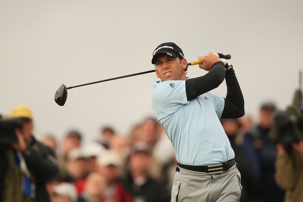 Sergio Garcia during the first round of the 2008 Open Championship at Royal Birkdale Golf Club in Southport, England, UK on Thursday, July 17 2008. .