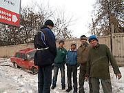 Nowosibirsk/Russische Foederation, RUS, 19.11.07: Kanal Arbeiter aus verschiedenen Teilen der russischen Foederation in der sibirischen Hauptstadt Nowosibirsk. <br /> <br /> Novosibirsk/Russian Federation, RUS, 19.11.07: Channel diggers from different parts of the Russian Federation in Novosibirsk - the capital city of Siberia.