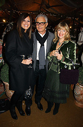 Left to right, VIDAL SASSOON and his wife RONNIE and designer EDINA RONAY at a party to celebrate the publication on 'A Year in My Kitchen' by Skye Gyngell held at The Petersham Nurseries, Petesham, Surrey on 19th October 2006.<br /><br />NON EXCLUSIVE - WORLD RIGHTS