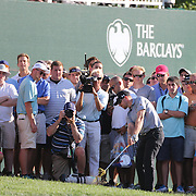 Winner Hunter Mahan hits to the 17th during the fourth round of theThe Barclays Golf Tournament at The Ridgewood Country Club, Paramus, New Jersey, USA. 24th August 2014. Photo Tim Clayton