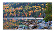 Jordan Pond on an early autumn morning, Just the place to be if you are a photographer, Acadia National Park, Maine, USA