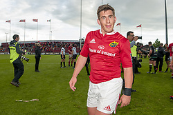 May 20, 2017 - Limerick, Irland - Ian Keatley of Munster celebrates after the Guinness PRO12 Semi-Final match between Munster Rugby and Ospreys at Thomond Park Stadium in Limerick, Ireland on May 20, 2017  (Credit Image: © Andrew Surma/NurPhoto via ZUMA Press)