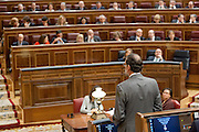 Mariano Rajoy, Spain's prime minister speaks to audience at congress of deputies