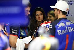 August 31, 2018 - Monza, Italy - Motorsports: FIA Formula One World Championship 2018, Grand Prix of Italy, .Caterina Masetti Zannini, girlfriend of #10 Pierre Gasly (FRA, Red Bull Toro Rosso Honda) (Credit Image: © Hoch Zwei via ZUMA Wire)