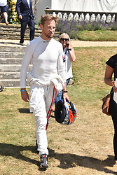 Jenson Button at the 'Cartier Style et Luxe' enclosure during the Goodwood Festival of Speed, Goodwood House, West Sussex, England. 15 July 2018.