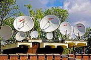 Anteny satelitarne na Kopcu Kościuszki w Krakowie, Polska<br /> Satellite antennas at the Kościuszko Mound in Cracow, Poland