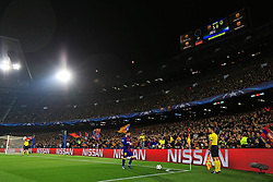 Barcelona fans look on as Lionel Messi walks to take a corner - Mandatory by-line: Matt McNulty/JMP - 14/03/2018 - FOOTBALL - Camp Nou - Barcelona, Catalonia - Barcelona v Chelsea - UEFA Champions League - Round of 16 Second Leg