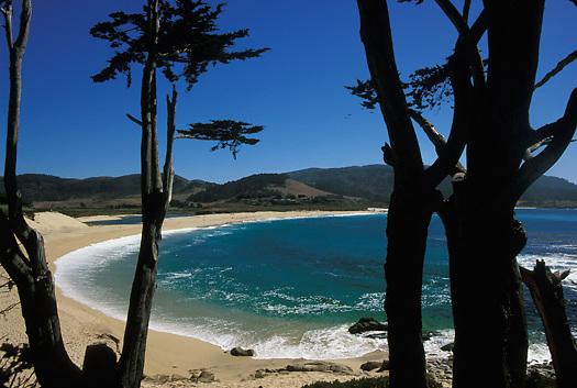 Carmel River State Beach in Carmel in Monterey Peninsula Central California, USA