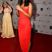 Sonam Bajwa is a actress attend the BritAsiaTV Presents Kuflink Punjabi Film Awards 2019 at Grosvenor House, Park Lane, London,United Kingdom. 30 March 2019