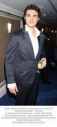 Singer DARIUS DANESH at a reception in London on 23rd February 2003.<br />PHK 260