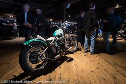 Terry Godschalk's custom 1965 Harley-Davidson Panhead in the Mama Tried Bike Show. Milwaukee, WI, USA. Saturday, February 18, 2017. Photography ©2017 Michael Lichter.