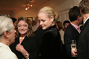 THE COUNTESS OF LICHFIELD AND LADY ELOISE ANSON,  Norman Parkinson and Philip Treacy, an exhibition of photographs by Norman Parkinson and drawings by celebrated milliner Philip Treacy. ELEVEN Gallery. VICTORIA. LONDON. 3 July 2007.  -DO NOT ARCHIVE-© Copyright Photograph by Dafydd Jones. 248 Clapham Rd. London SW9 0PZ. Tel 0207 820 0771. www.dafjones.com.