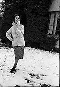 27/12/1962<br /> 12/27/1962<br /> 27 December 1962<br /> Orla Ní Shíochain, Dublin Model working in Paris home for Christmas at Rathfarnham Park, Dublin.