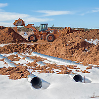 121013       Cable Hoover<br /> <br /> Construction of an access road to a proposed new prison near Mountain View continues Tuesday. Funding for the prison is still in limbo.