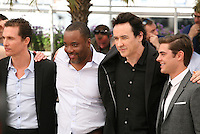 Matthew Mcconaughey, Lee Daniels, John Cusack,  Zac Efron at The Paperboy photocall at the 65th Cannes Film Festival France. Thursday 24th May 2012 in Cannes Film Festival, France.