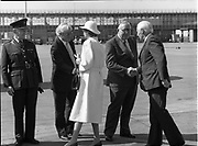 The President of Ireland Mr. Patrick Jonh Hillery leaving on state visit to Germany by plane,<br />