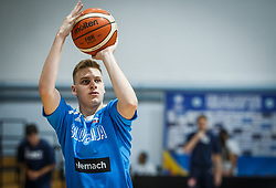 Kmetic  Primoz of Slovenia during basketball match between National teams of Slovenia and France in the Group Phase C of FIBA U18 European Championship 2019, on July 27, 2019 in Nea Ionia Hall, Volos, Greece. Photo by Vid Ponikvar / Sportida