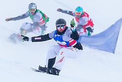 08-12-2012 SNOWBOARDEN: FIS WORLDCUP SBX: MONTAFON<br /> Snowboardcross op Seebliga course / Markus Schairer of Austria in action during men Team competition of the SBX Weltcup<br /> ***NETHERLANDS ONLY***<br /> ©2012-FotoHoogendoorn.nl