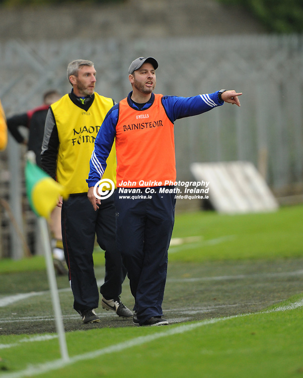 07-10-17. Na Fainna v Navan O'Mahony's - Meath IHC Final Replay at Pairc Tailteann.<br /> James Burke, O'Mahony's Manager.<br /> Photo: John Quirke / www.quirke.ie<br /> ©John Quirke Photography, Unit 17, Blackcastle Shopping Cte. Navan. Co. Meath. 046-9079044 / 087-2579454.