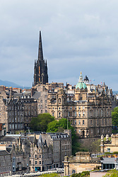 View of Edinburgh from Calton Hill, Scotland, UK