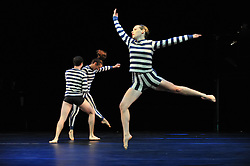 """© Copyright licensed to London News Pictures. 05/10/2010. Stephen Petronio Company presents """"I Drink the Air Before Me"""" at the Barbicam. The piece takes its title from a line in """"The Tempest"""" by Shakespeare and is inspired by storms, both environmental and internal."""