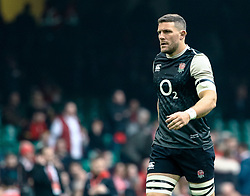 Mark Wilson of England during the pre match warm up<br /> <br /> Photographer Simon King/Replay Images<br /> <br /> Six Nations Round 3 - Wales v England - Saturday 23rd February 2019 - Principality Stadium - Cardiff<br /> <br /> World Copyright © Replay Images . All rights reserved. info@replayimages.co.uk - http://replayimages.co.uk