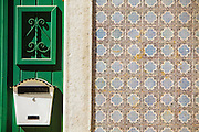 Ceramic tiles facades in Madragoa district in Lisbon.