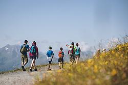 THEMENBILD - eine Familie beim wandern auf der Schmitten, aufgenommen am 30. Juli 2020 in Zell am See, Österreich // a family hiking on the Schmitten, Zell am See, Austria on 2020/07/30. EXPA Pictures © 2020, PhotoCredit: EXPA/ JFK