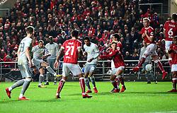 Zlatan Ibrahimovic of Manchester United scores to make it 1-1 - Mandatory by-line: Dougie Allward/JMP - 20/12/2017 - FOOTBALL - Ashton Gate Stadium - Bristol, England - Bristol City v Manchester United - Carabao Cup Quarter Final