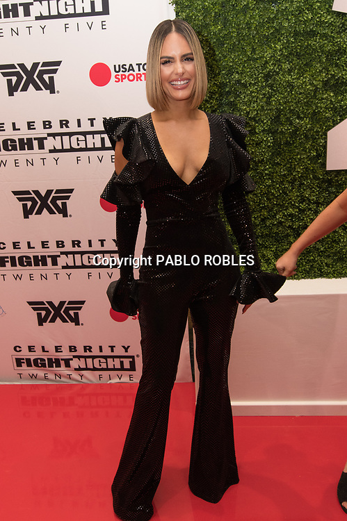Pia Toscano attend the Celebrity Fight Night event on March 23, 2019 in Scottsdale, AZ.