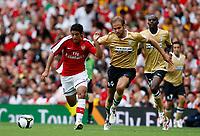 Photo: Richard Lane/Richard Lane Photography. Arsenal v Juventus. Emirates Cup. 02/08/2008. Arsenal's Carlos Vela breaks from Juventus' Olof Mellberg.