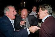 KELVIN MACKENZIE; HENRY BRANDMAN; BROUGH SCOTT;  Book launch for Citizen by Charlie Brooks. Tramp. London. 1 April  2009