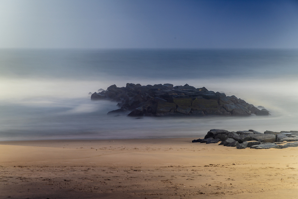 A long exposure photograph of the beach in Spring Lake tha reveals a dreamy, ethereal vision.