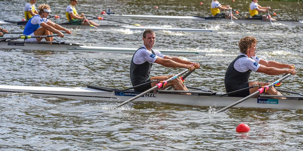 NZL M2x (b) Robert MANSON (s) Karl MANSON – 8th place 6:13.03 SUN 31 AUG 2014<br /> <br /> Crews racing the World Championships on The Bosbaan, Amsterdam, The Netherlands, 29/30/31 August 2014  Copyright photo © Steve McArthur / @rowingcelebration www.rowingcelebration.com