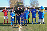 *** during the EFL Sky Bet League 1 match between AFC Wimbledon and Charlton Athletic at the Cherry Red Records Stadium, Kingston, England on 23 February 2019.