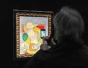 ©London News pictures...31.01.2011. Picasso's Portrait of his mistress and muse Marie-Therese, from 1932 is expected to raise 12 - 18million. Highlights of upcoming Sotheby's sales of impressionist and modern art and contemporary art. Works on show include a Picasso portrait of his mistress and muse Marie-Therese, from 1932 which is estimated to fetch £12 to £18 million, a private commission by Marc Chagall - never before seen on the market - estimated to fetch in excess of £10m and a Hockney painting estimated at £1 to £1.5m. . Picture Credit should read Stephen Simpson/LNP
