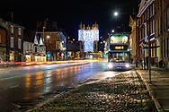 Micklegate at night, York