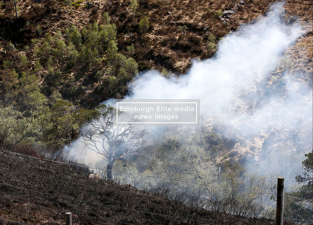 A grass fire in scenic Glen Etive this afternoon saw the fire appliance from Kinlochleven attend to dampen down the flames and surrounding moorland........ <br /> (c) Stephen Lawson   Edinburgh Elite media