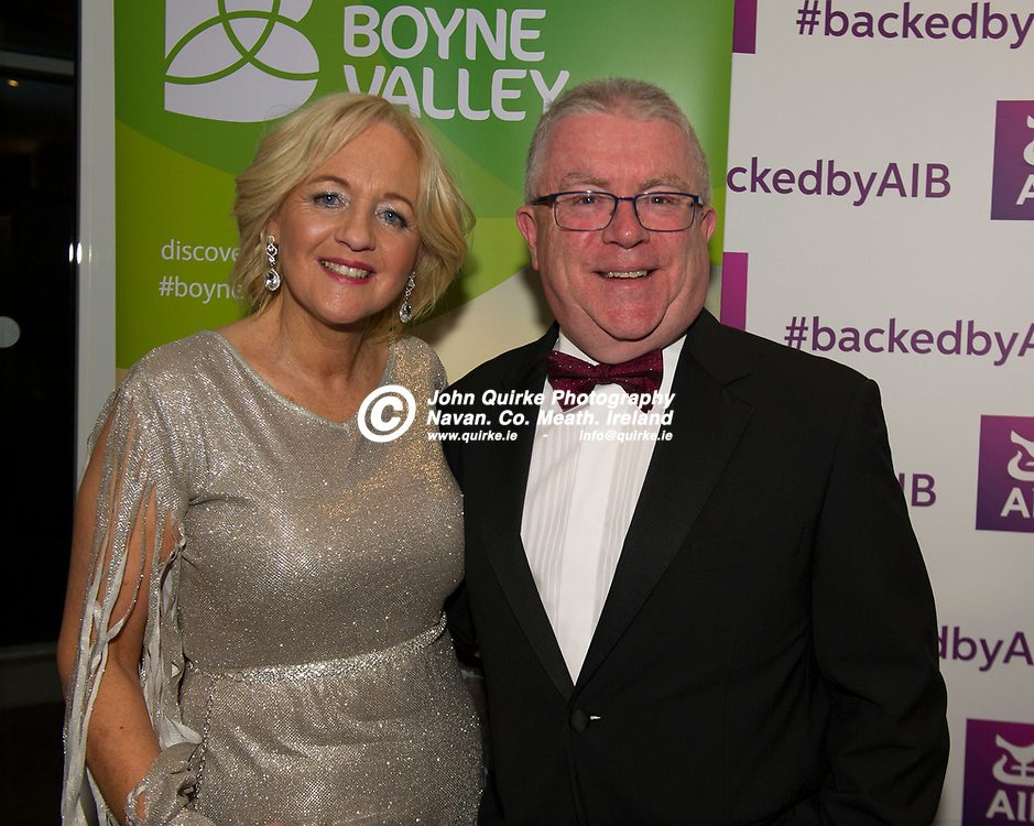 15-11-19. Meath Business and Tourism Awards 2019 at Dunboyne Castle, Hotel.<br /> Bernice and Kevin Stewart.<br /> Photo: John Quirke / www.quirke.ie<br /> ©John Quirke Photography, Unit 17, Blackcastle Shopping Cte. Navan. Co. Meath. 046-9079044 / 087-2579454.