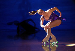 Debora Sbei performs during special artistic roller skating event when Lucija Mlinaric of Slovenia, World and European Champion ended her successful sports career, on November 7, 2015 in Rence, Slovenia. Photo by Vid Ponikvar / Sportida